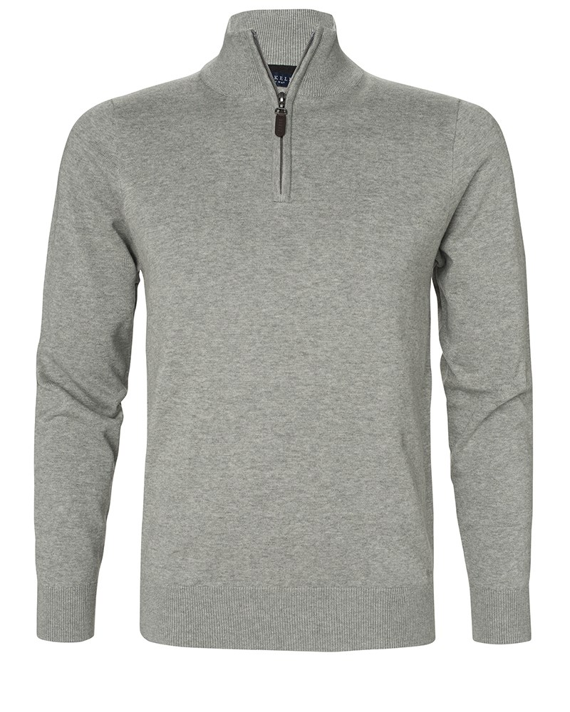 Sweatshirt Half Zip 1730 Grey